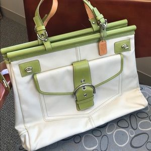 New Item! Canvas & Leather Trim Coach Tote 👜